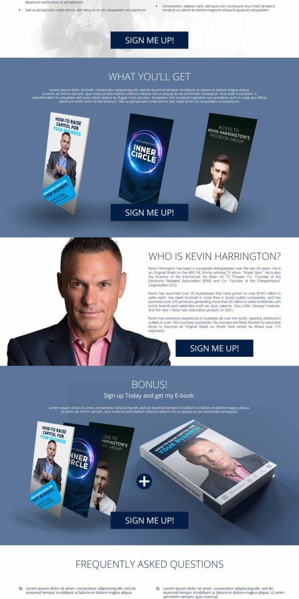 Kevin Harrington Landing Page