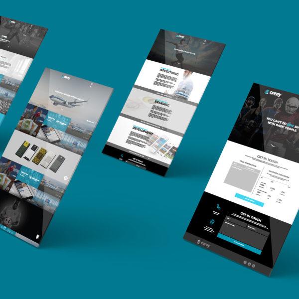 Corey Advertising Website